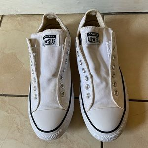 Converse all star unisex white slip ons sneakers